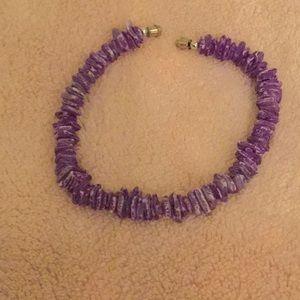 Purple Shell Bracelet 9.5 inches long